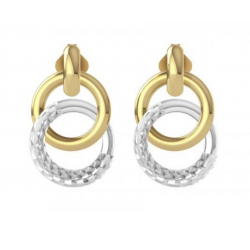 Gold Double Hoop Earrings made in 14k