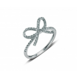 Bow ring made in 14k White Gold (0.36cts)