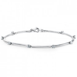 Diamond Link Bracelet made in 18k White Gold (0.61cts)