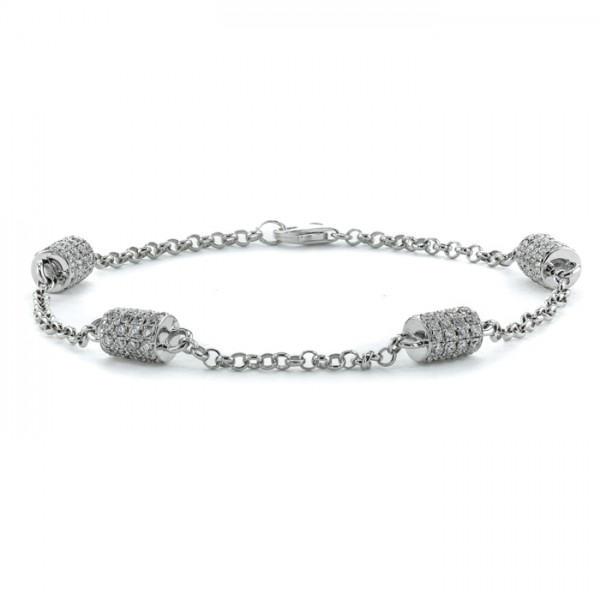 Diamond Chain Bracelet made in 18k White Gold (0.6cts)