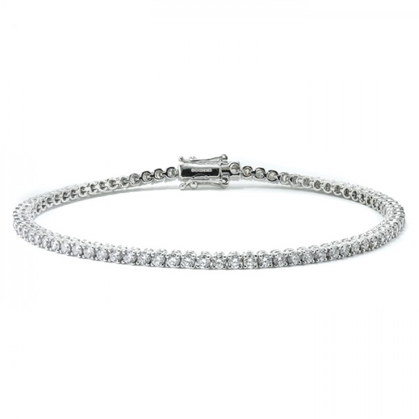 Classic Diamond Tennis Bracelet made in 18k White Gold (2.54cts)