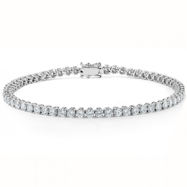 Classic Diamond Tennis Bracelet made in 14k White Gold (5.62cts)