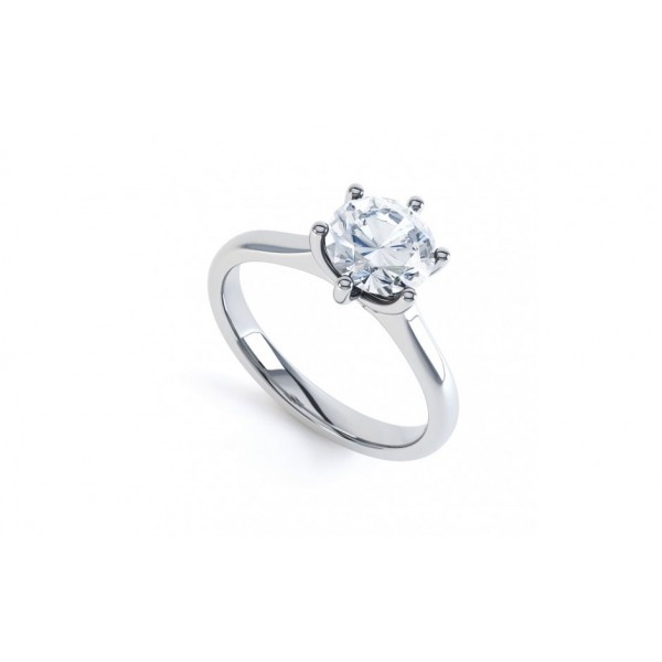 Semi - Mount (1 ct Compatible) Diamond Ring made in 14k White Gold