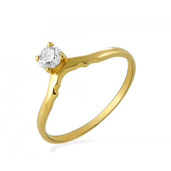Diamond Ring Made In 18K Yellow Gold (0.22 cts)