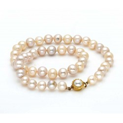 Shell Muilticolor Pearl Necklace with a Sterling Silver Clasp (8-9mm Pearls)