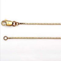 Yellow Gold Box Chain  + $275.00