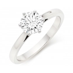 Engagement Ring handcrafted in 18k White Gold ( 0.75-0.80 cts ,choose centre stone inside )