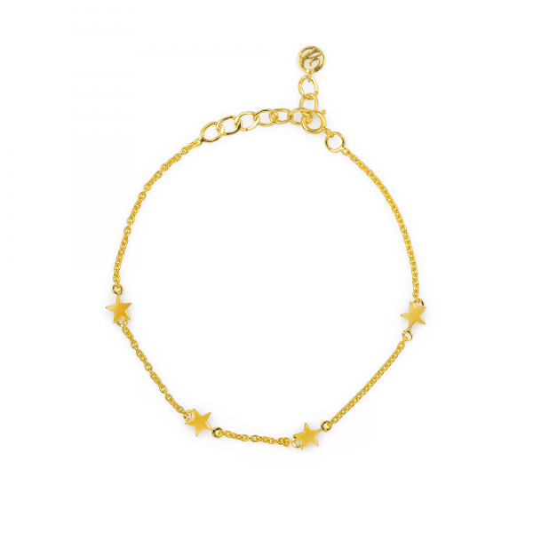 Star Chain Bracelet made in 18k Yellow Gold