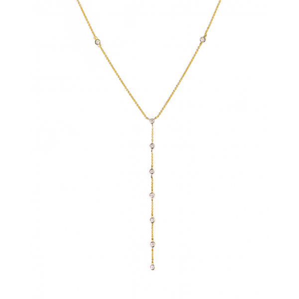 Diamond Lariat chain made in 18k Yellow Gold (0.25cts)