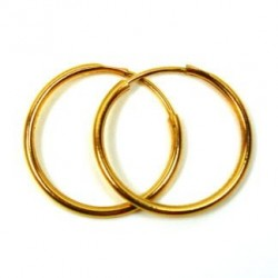 3mm Solid Gold Hoop Earrings made in 18k Yellow gold