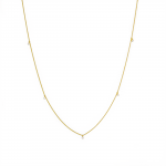 Diamond Necklace made in 18k Yellow Gold (0.08cts)