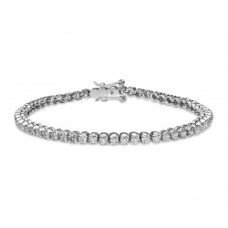 Classic Diamond Tennis Bracelet made in 18k White Gold (4 cts)