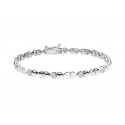 Diamond Heart Bracelet made in 18k White Gold (0.34 cts)