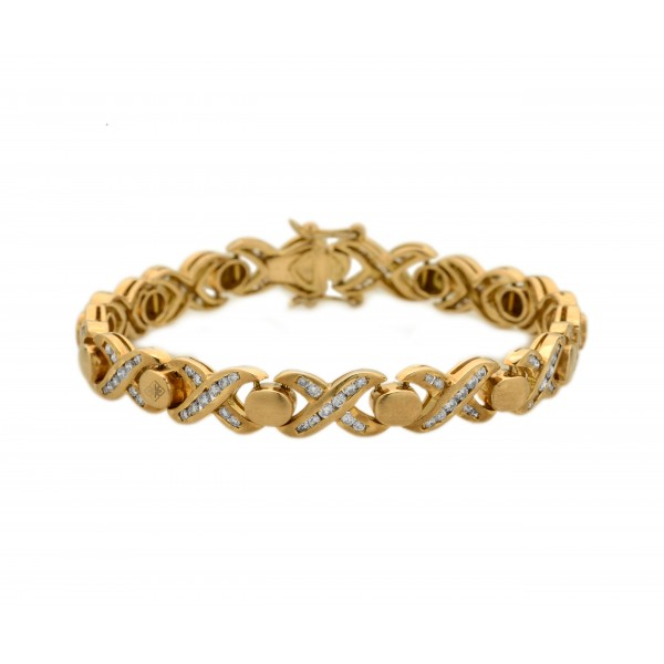XOXO Diamond and Gold Bracelet (2.52 cts)