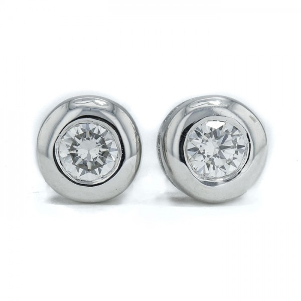 Diamond Stud Earrings made in 14k White Gold (0.28cts)