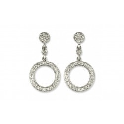 Diamond Chandelier Earrings made in 14K White Gold (0.25cts)