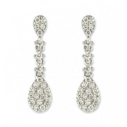 Diamond Cocktail Earrings made in 14K White Gold (1.2cts)