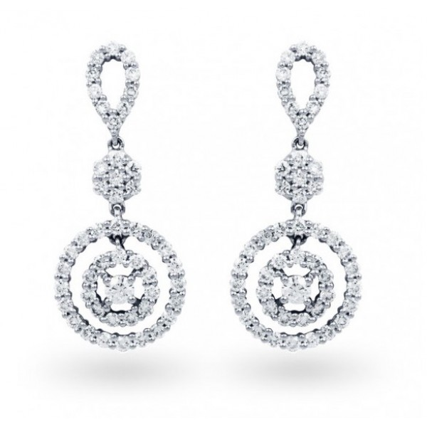 Diamond Earring Set in 14k White Gold (1.12 cts)