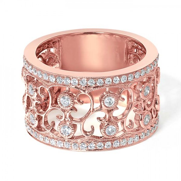 Diamond Band Ring Set in 14k Rose Gold (0.80 cts)