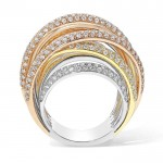 Diamond Multi Band Ring Set in 14k Rose Gold (2.42 cts)