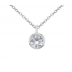 Diamond Pendant made in 14k White Gold (0.25ct )